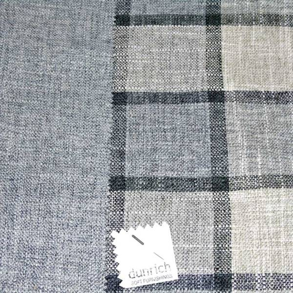 light grey check pattern fabric to order