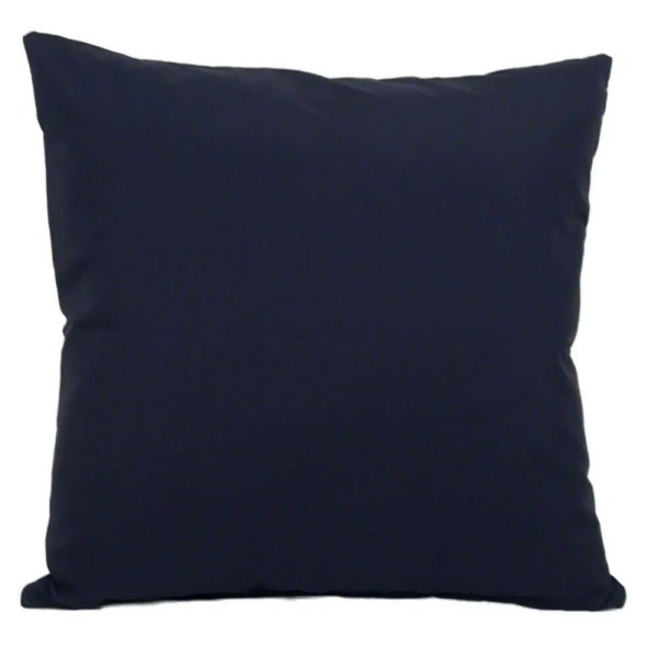 navy blue water resistant indoor outdoor scatter cushion