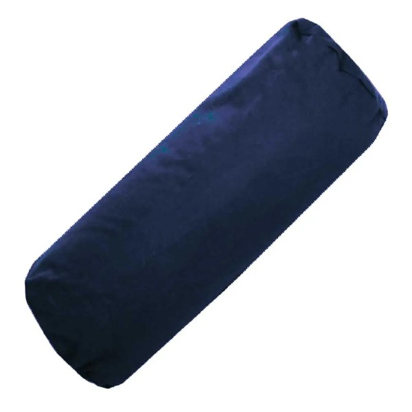 navy cotton drill bolster cylinder cushions covers