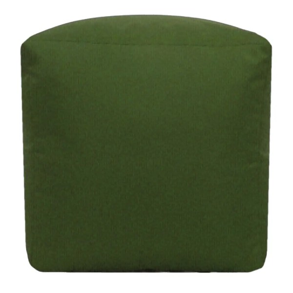 olive green water resistant cubes footstools