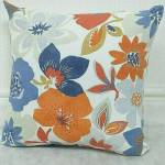orange flower pattern scatter cushion design