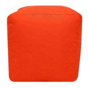 orange water resistant cubes footstools