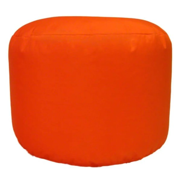 orange water resistant outdoor footstool pouffe