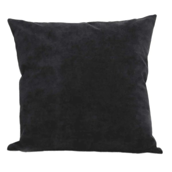 pewter black suede feel scatter cushion