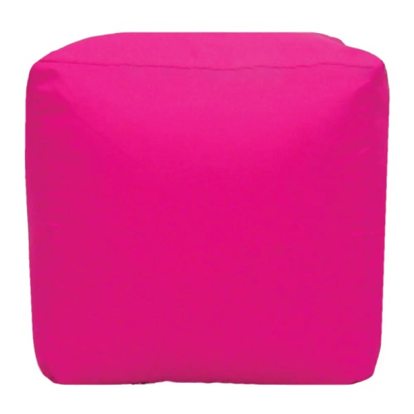 pink water resistant cubes footstools