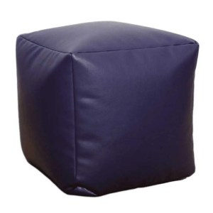 purple faux leather cube footstool