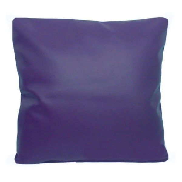 purple faux leather scatter cushion covers