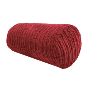 red chunky cord cylinder bolster cushions