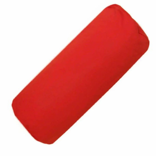 red cotton drill bolster cylinder cushions covers