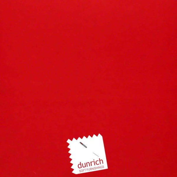 red cotton drill cut fabric