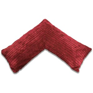 red pregnancy v pillow chunky cord