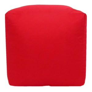red water resistant cubes footstools