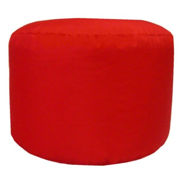 red water resistant outdoor footstool pouffe