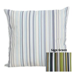 sage green cotton striped goa scatter cushion