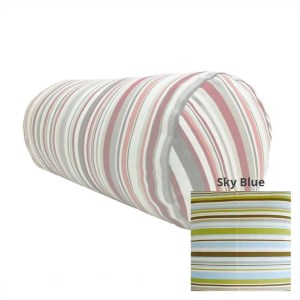 sky blue goa striped cotton bolster cylinder cushions