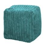 teal chunky cord pouffe footstool