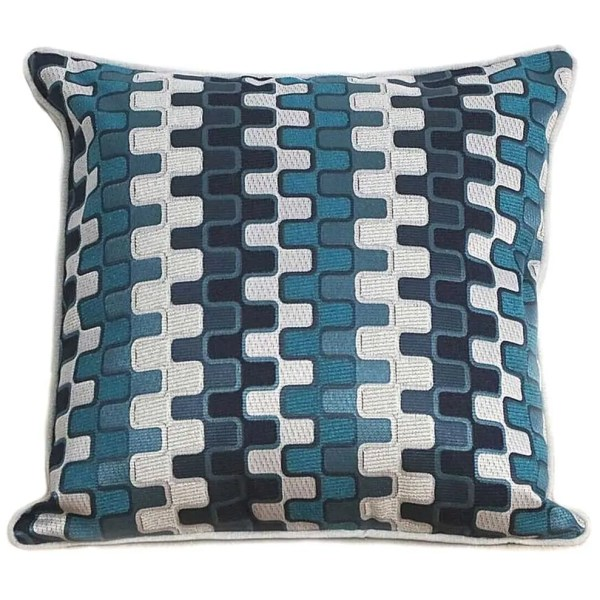 teale geometric patterned scatter cushions covers