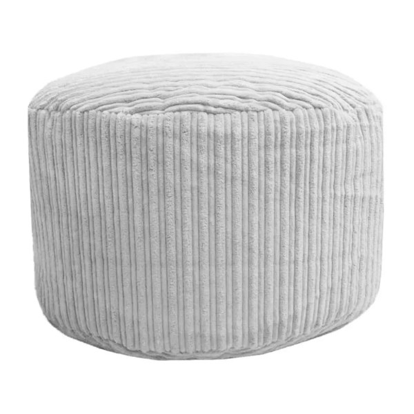 white chunky cord pouffe footstool