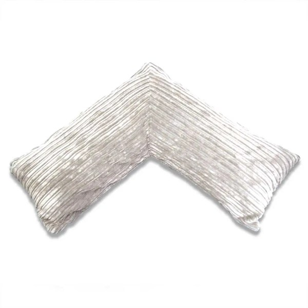 white pregnancy v pillow chunky cord