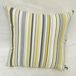 yellow cotton striped goa scatter cushion