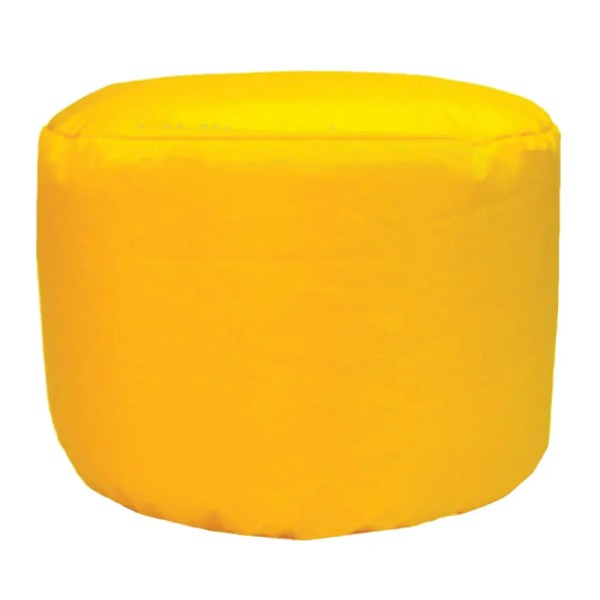 yellow water resistant outdoor footstool pouffe