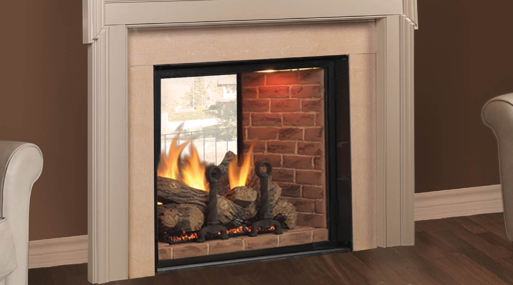 Covington See Thru Direct Vent Fireplace