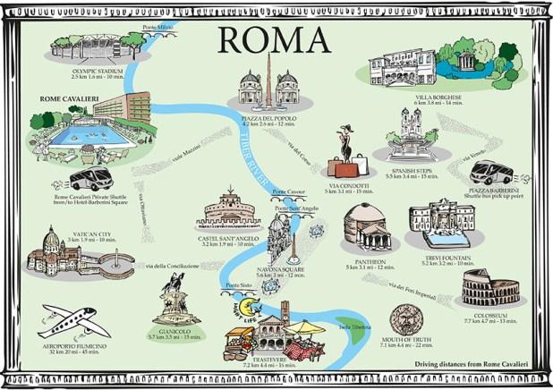 Roma Turist Haritası
