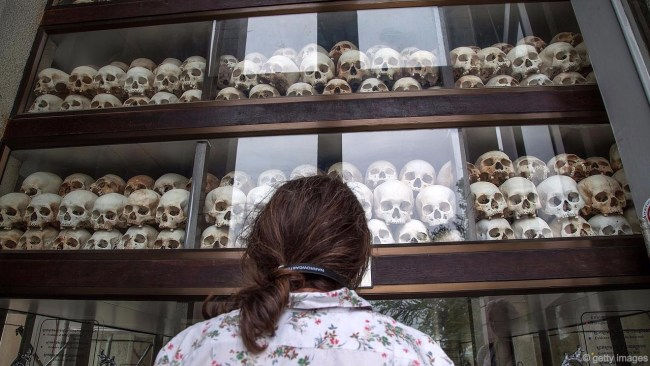 Kamboçya'da milyonlarca kişinin ölümüne yol açan Pol Pot'tan kalan 'hatıralar'.