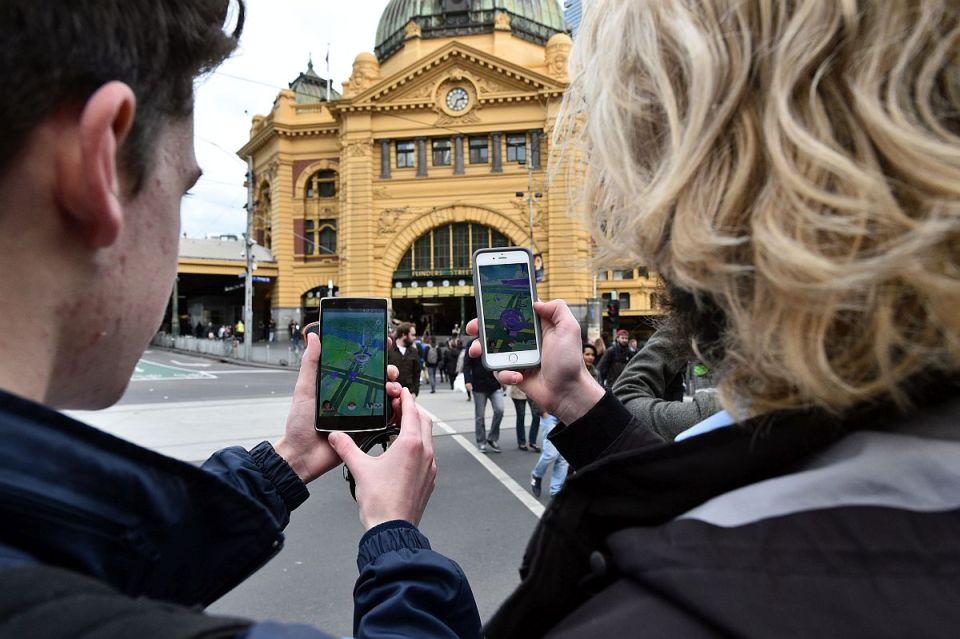 Pokemon Go game in Melbourne, Victoria