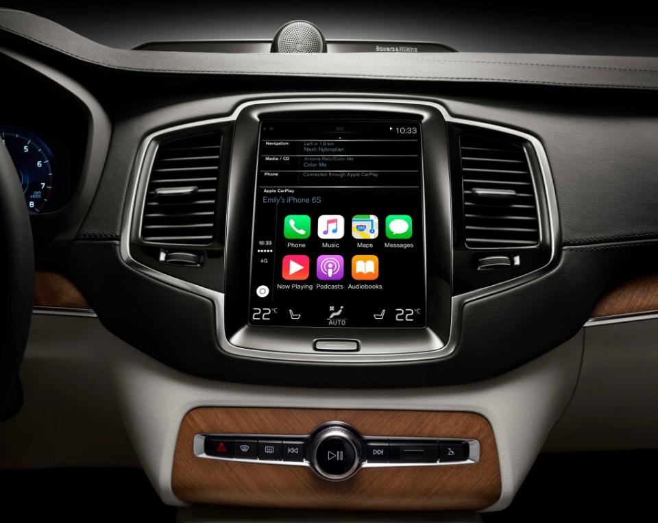 Apple CarPlay in Volvo XC90