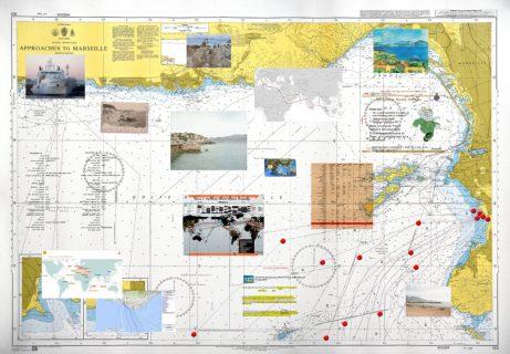 NSA tarafından dinlenen fiberoptik kabloların Fransa, Marsilya'da karaya çıktığı noktaları gösteren belge