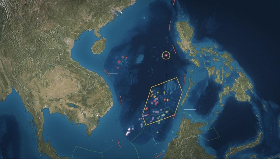 Balıkçılık ve mineral aramaları için önemli konumları nedeniyle paylaşılamayan Spratly Adaları.