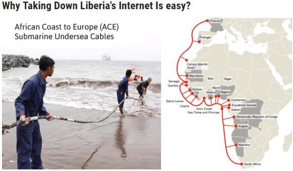 Haberlerde Liberya2nın internet bağlantısını göstermek için bu görseller kullanıldı.