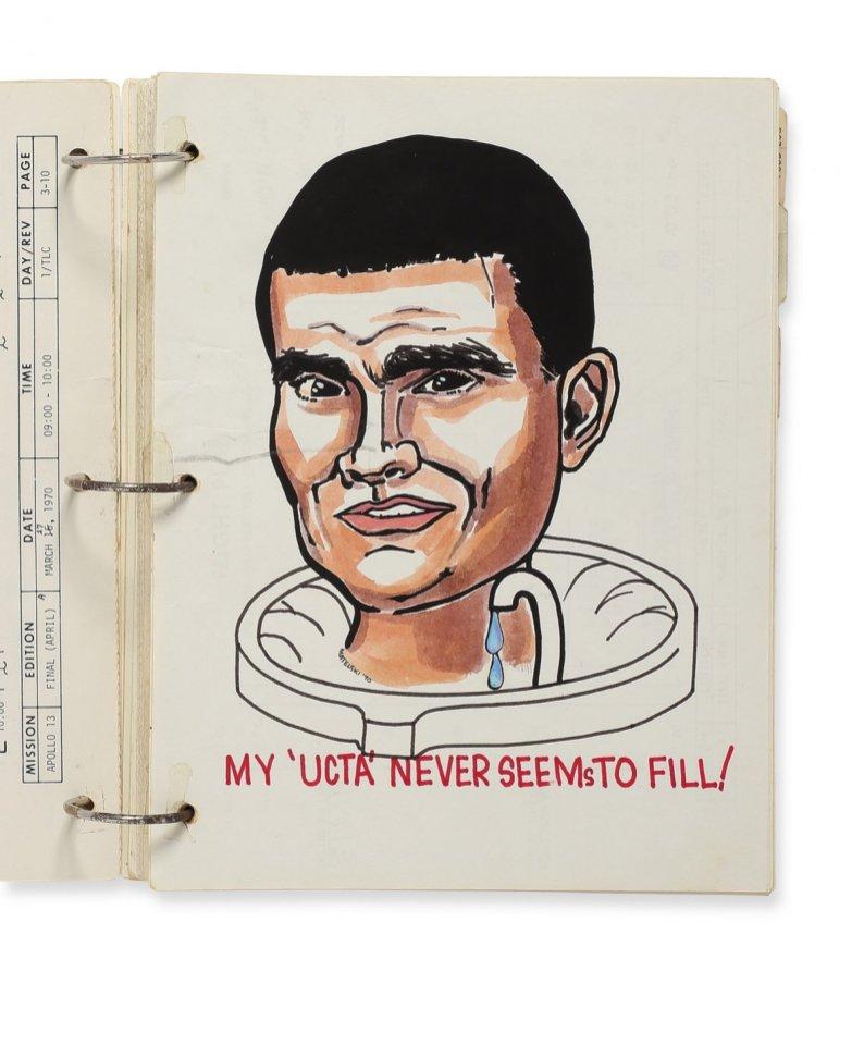 Apollo 13 astronotlarının çizimi 3