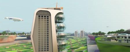 Şehrin hava filtreleme sistemi, ağır yük hava gemileri ve gemiler için tasarlanan hava limanları