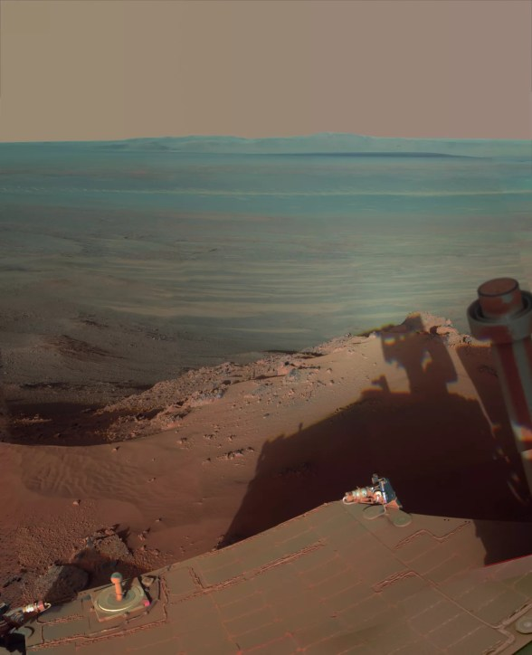 Endeavor kraterinden bir manzara
