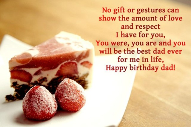 happy birthday message for dad