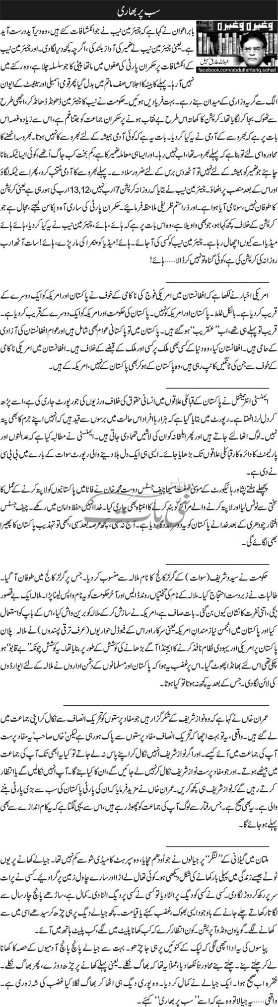 Sub par bhari - Abdullah Tariq Sohail