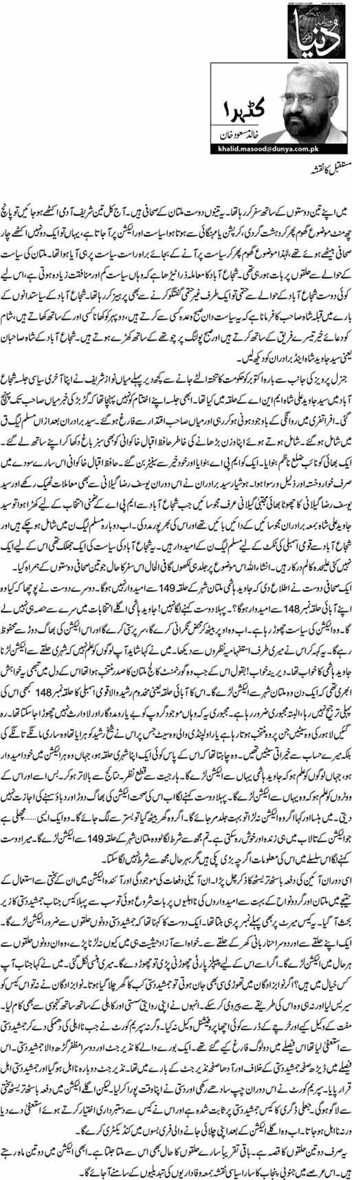 Future ka naqsha - Khalid mAsood Khan