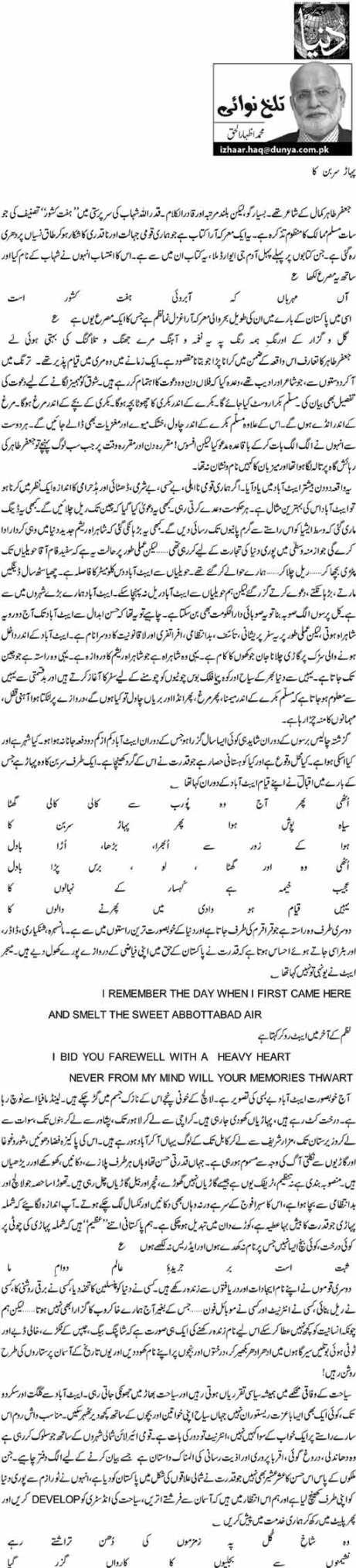 Pahaar Sarban Ka - M. Izhar ul Haq
