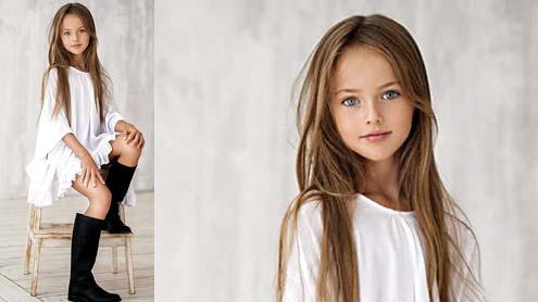 9 سالہ روسی ماڈل: دنیا کی خوبصورت ترین لڑکی