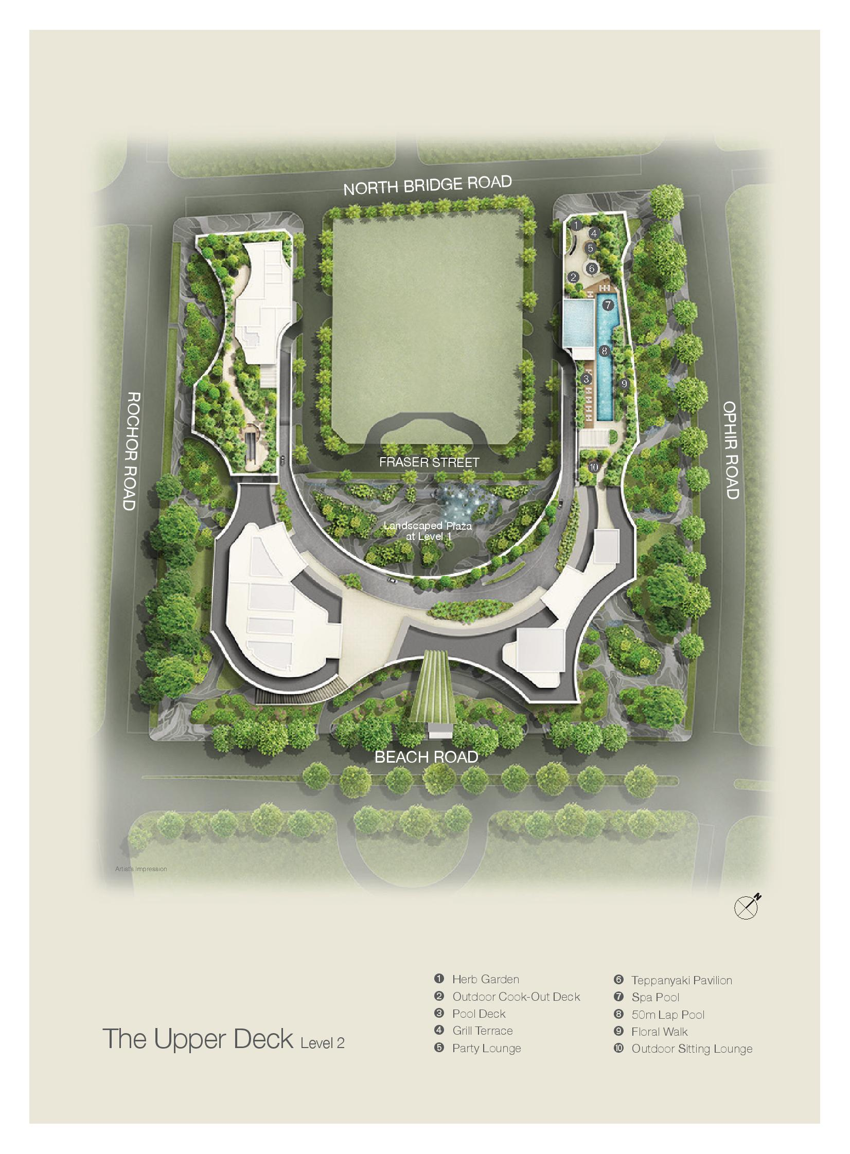 Duo Residences Site Map