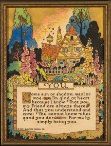 Buckbee Brehm Gift Motto - You - 1929 Buckbee Brehm Company
