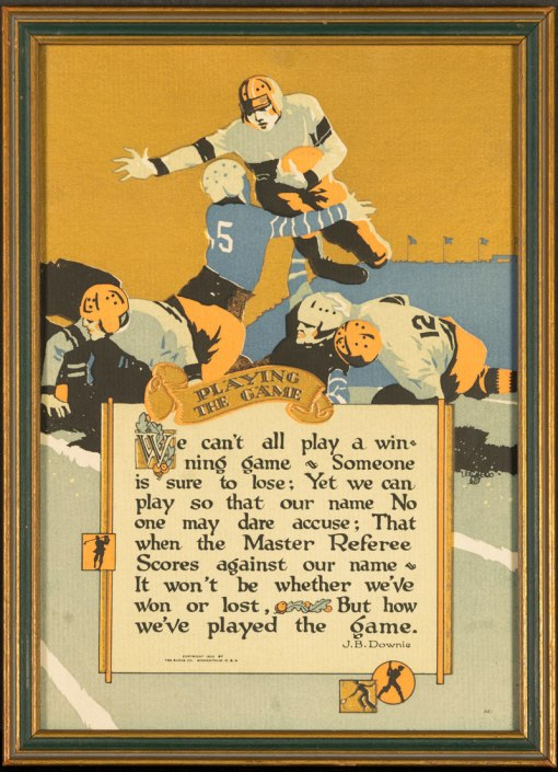 Buzza Motto - Playing the Game by J.B. Downie - 1925