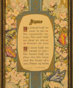 Buzza Motto - Sister by J.P. McEvoy, Copyright 1924