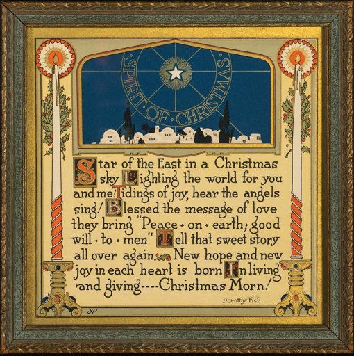 Gift Motto - The Spirit of Christmas by Dorothy Fish