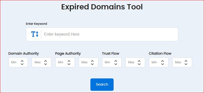 Искатель домена с истекшим сроком действия