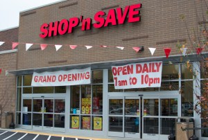 Photo by Connor Hancovsky | Multimedia Editor. The new Shop n' Save in the Hill District promotes its grand opening during a community celebration on Saturday afternoon. The store opened last Thursday.