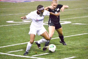 Taylor Miles | The Duquesne Duke Freshman Cydney Staton scored her first collegiate goal in the Duquesne women's soccer team's 3-1 victory over St. Bonaventure.