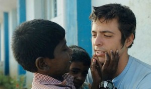 Rocky Braat (right) appears in the documentary Blood Brother, playing Thursday in College Hall 105. Braat moved to India from Pittsburgh after meeting a group of HIV positive children at an orphanage.